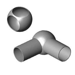 Inox kutne kugle sa dvije rupe
