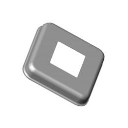 Inox kvadratne rozete 90x90